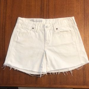 MADEWELL | White Denim Cut Off Shorts